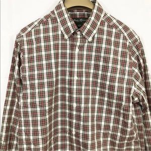 Eddie Bauer Shirt Relaxed Fit Plaid Long Sleeves